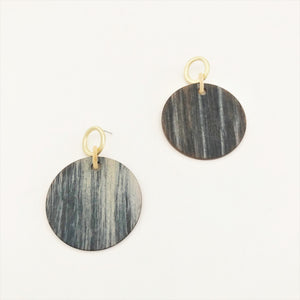 Adorne Timber Look Resin Metal Earrings-Earring-My_Sister_Elle