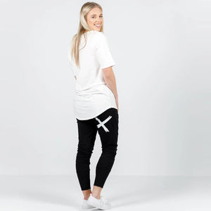 Home-lee Apartment Pants - Black with White X print-Bottoms-8-My_Sister_Elle