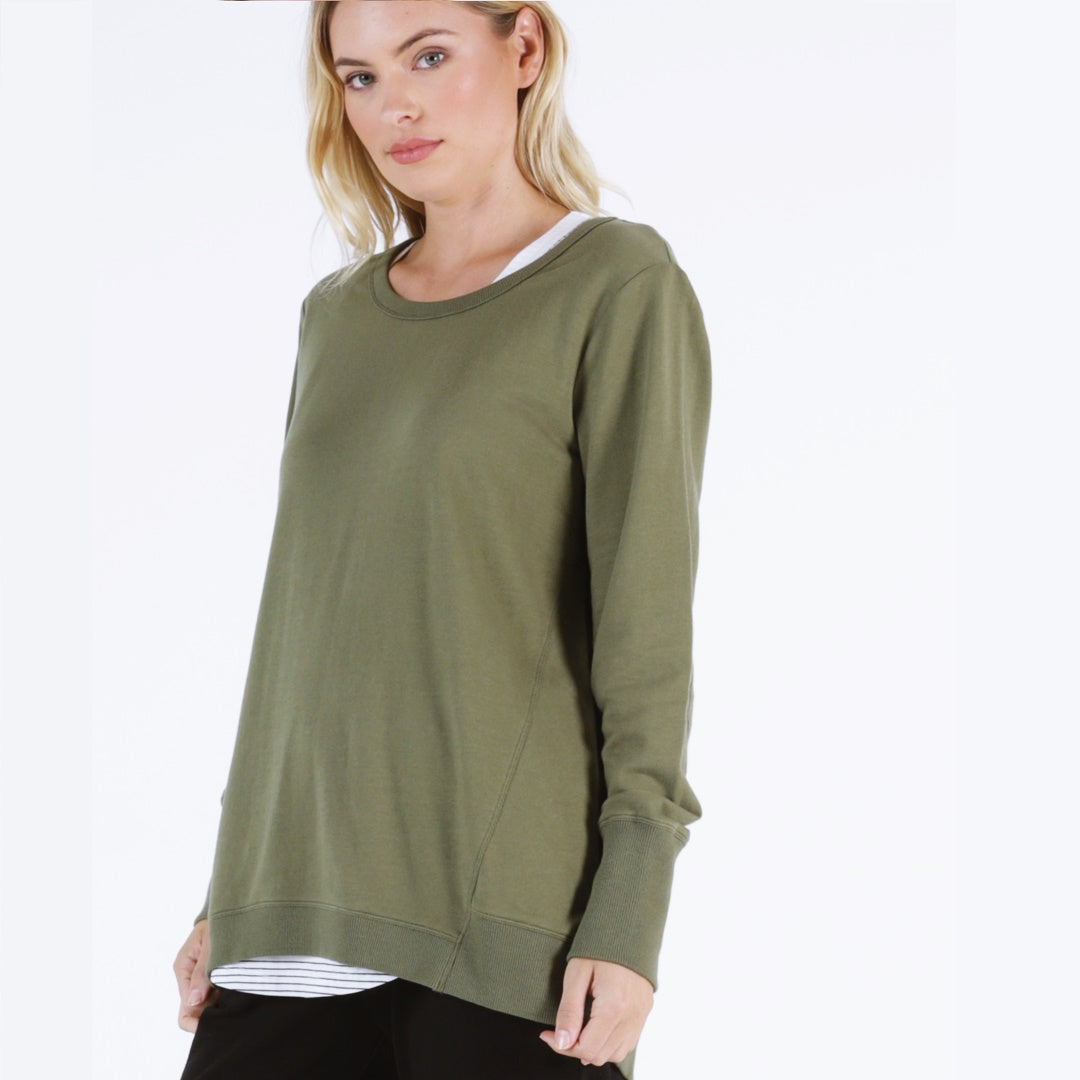 Betty Basics Dolly Sweat - Khaki-Tops-6-My_Sister_Elle