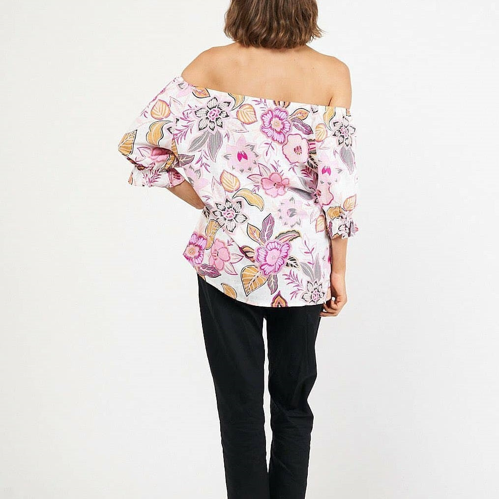 Ebby & I Candy Floss Floral Top