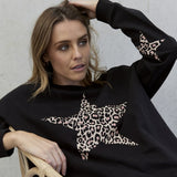 Jovie the Label Freedom Sweater - Black Leopard