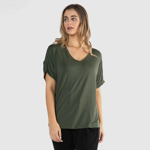 Betty Basics Granada Tee - Olive-Tops-8-My_Sister_Elle
