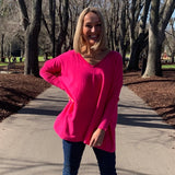 Slideshow Hattie Knit - Hot Pink-Knitwear-S/M-My_Sister_Elle