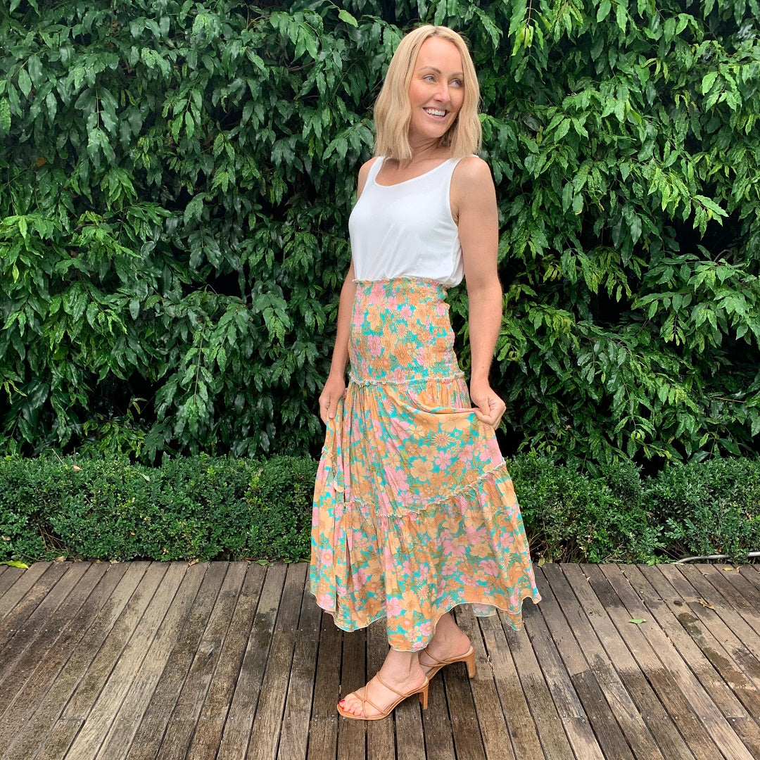 Paper Heart Audrey Sunset Maxi Skirt