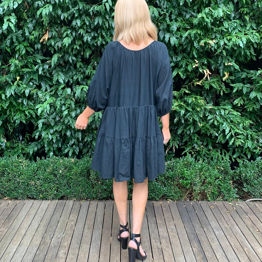 One Two Lana Dress - Black