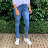 Wakee Denim Biker Jeans Indigo from My Sister Elle Clothing