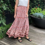 Thanne Maxi Print Skirt from My Sister Elle Clothing