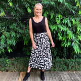 Slideshow Astrid Midi Skirt - Black and White-Bottoms-6-My_Sister_Elle