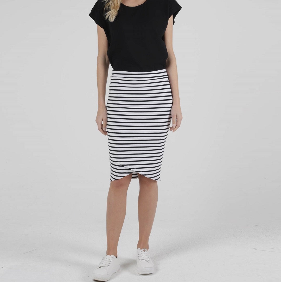 Betty Basics Siri Skirt Stripe from My Sister Elle Clothing