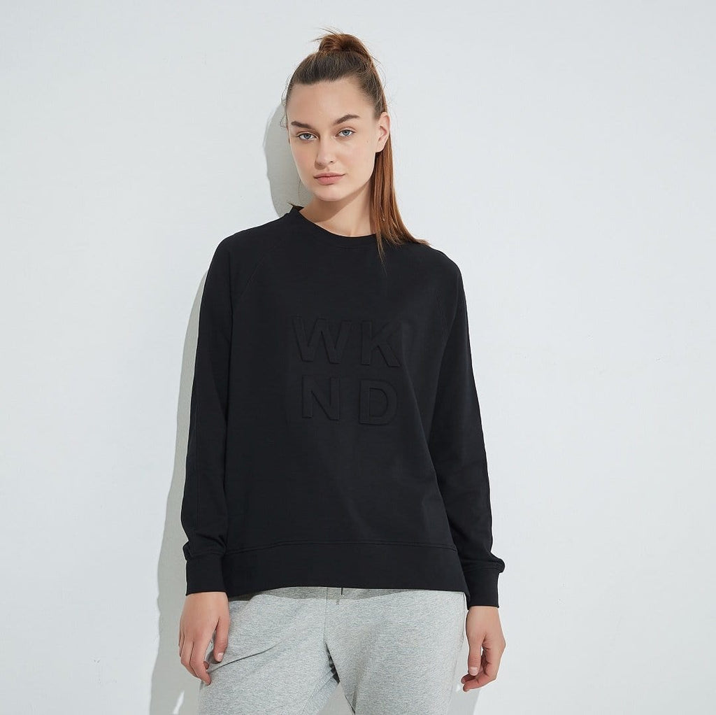 Tirelli WKND Embossed Sweater - Black-Tops-S-My_Sister_Elle