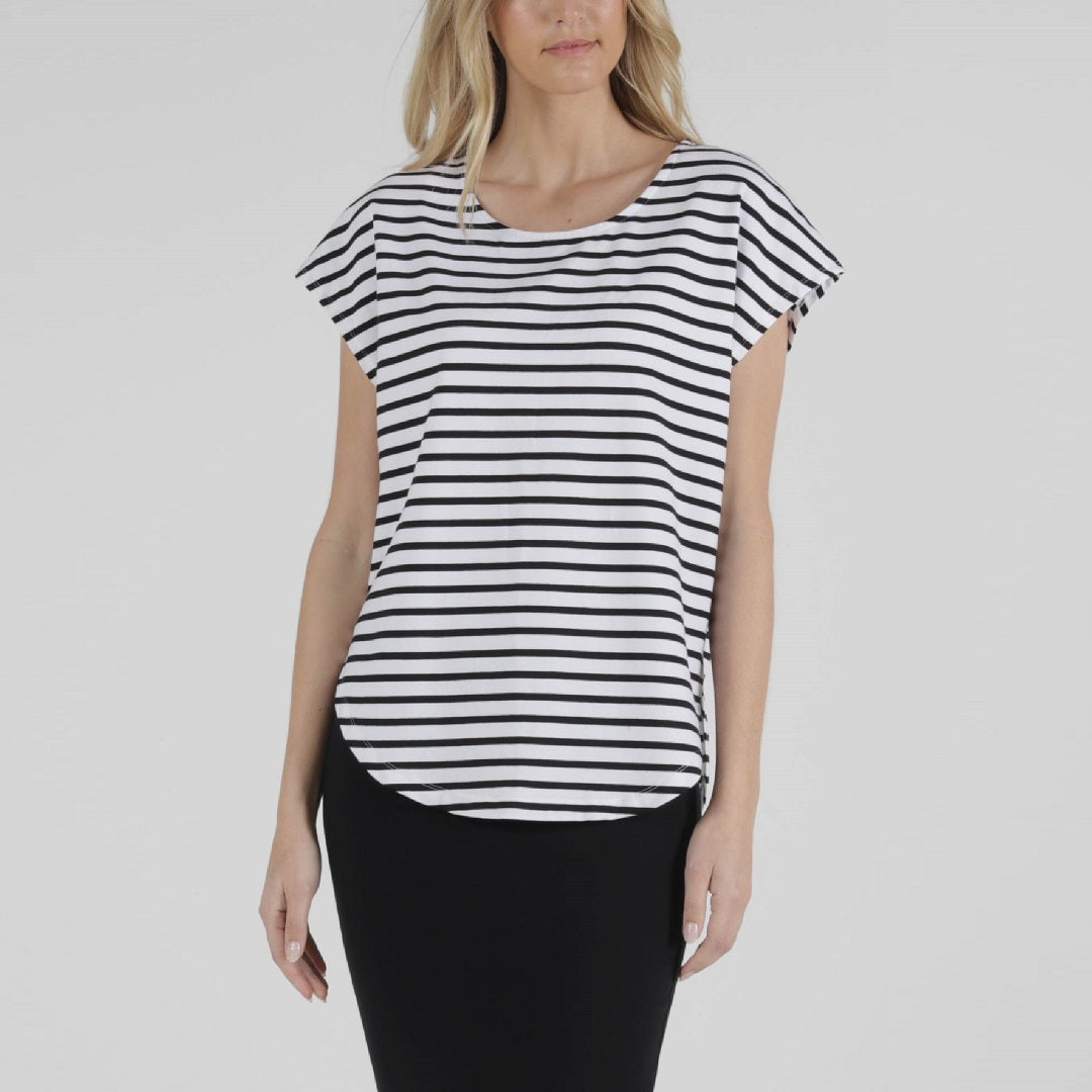 Betty Basics Tulip Top Stripe from My Sister Elle Clothing
