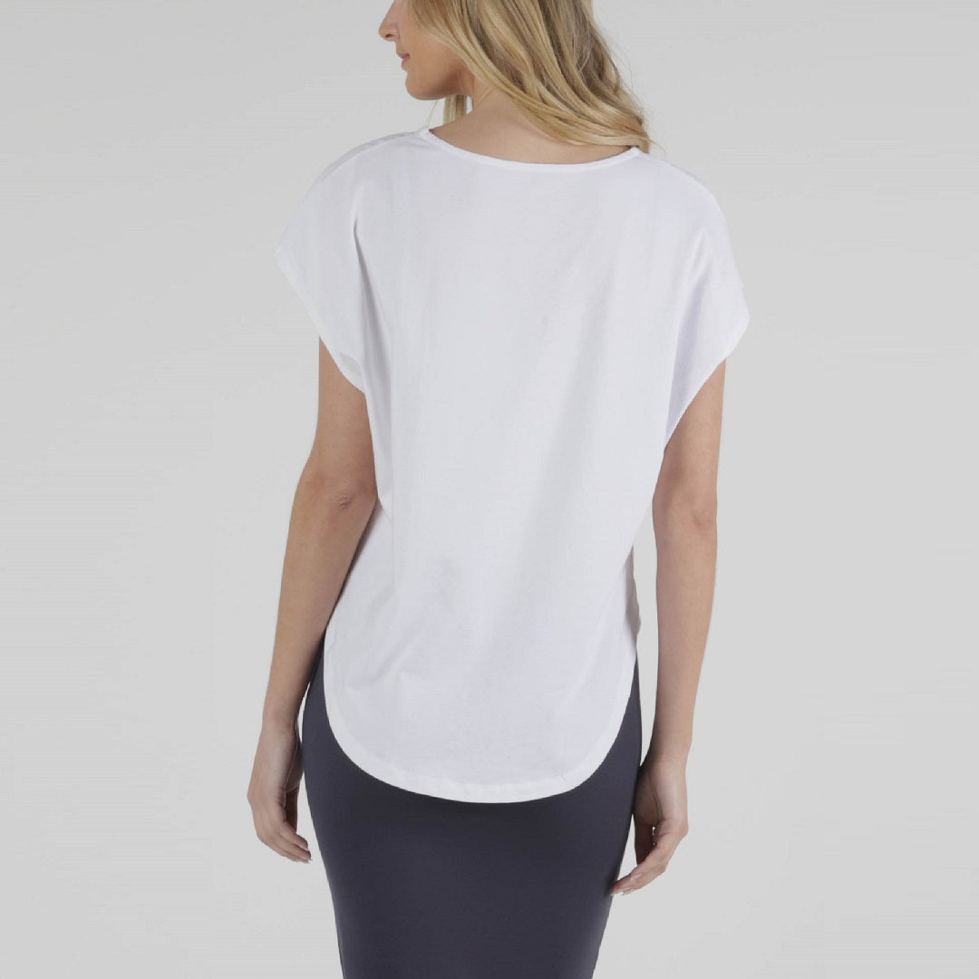 Betty Basics Tulip Top - White