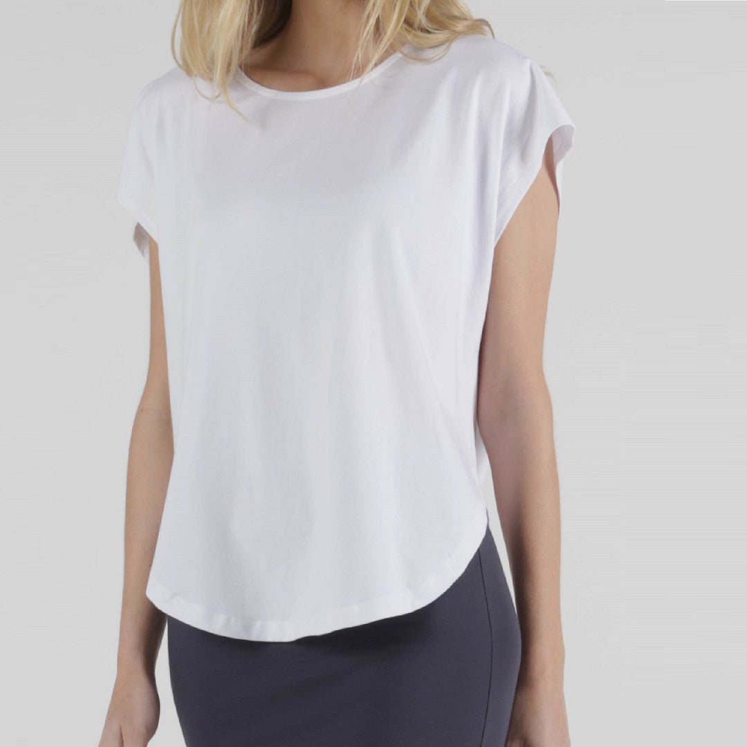 Betty Basics Tulip Top White from My Sister Elle Clothing