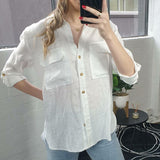 Renee White Linen Shirt-Tops-8-My_Sister_Elle