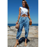 Refuge Keely Chambray Pants - Blue