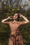 Sunflower Dress in Caramel - BEDRA VINTAGE
