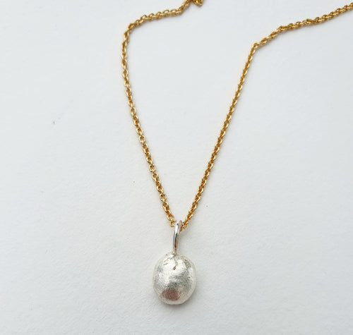 Perle anheng, sølv // Pearl series - necklace