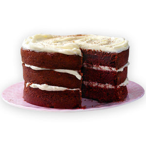 Red Velvet (Chocolate Or Cheese Icing) Cake - GharSe home cooked food