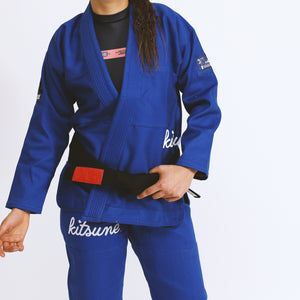 """Cursive"" Heavier Weight Blue BJJ Gi - Women's"