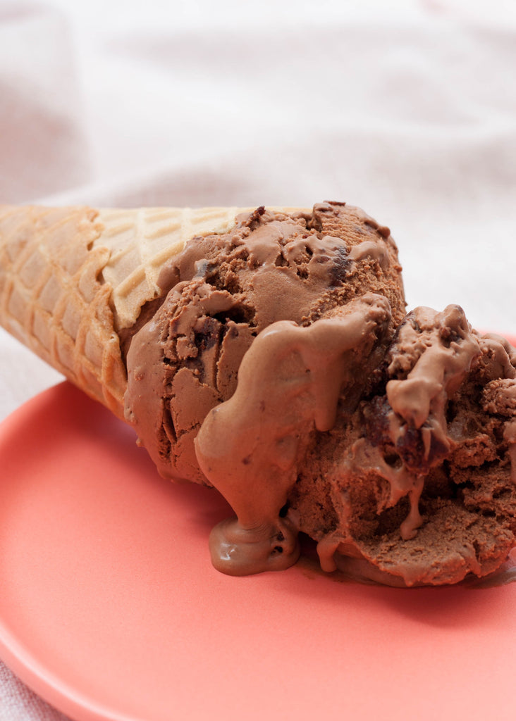Chocolate Date Brownie Ice Cream