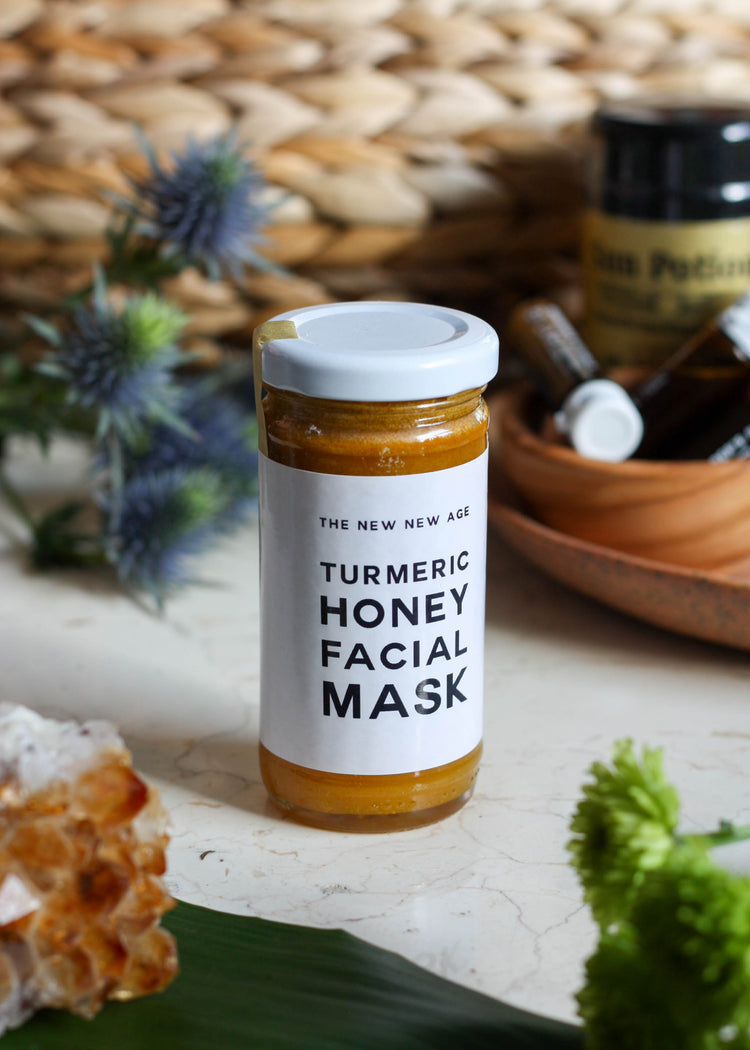 the New New Age Turmeric Honey Facial Mask - Tyger-Tyger.ca