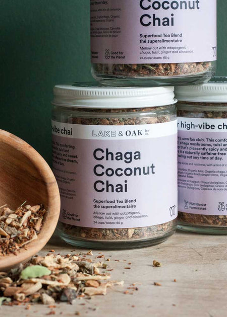 Lake & Oak Chaga Coconut Chai Tea - Tyger-Tyger.ca