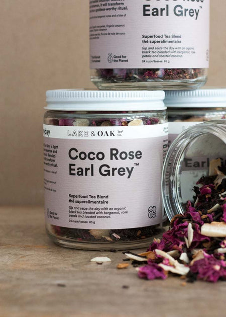 Lake & Oak Coco Rose Earl Grey Tea - Tyger-Tyger.ca