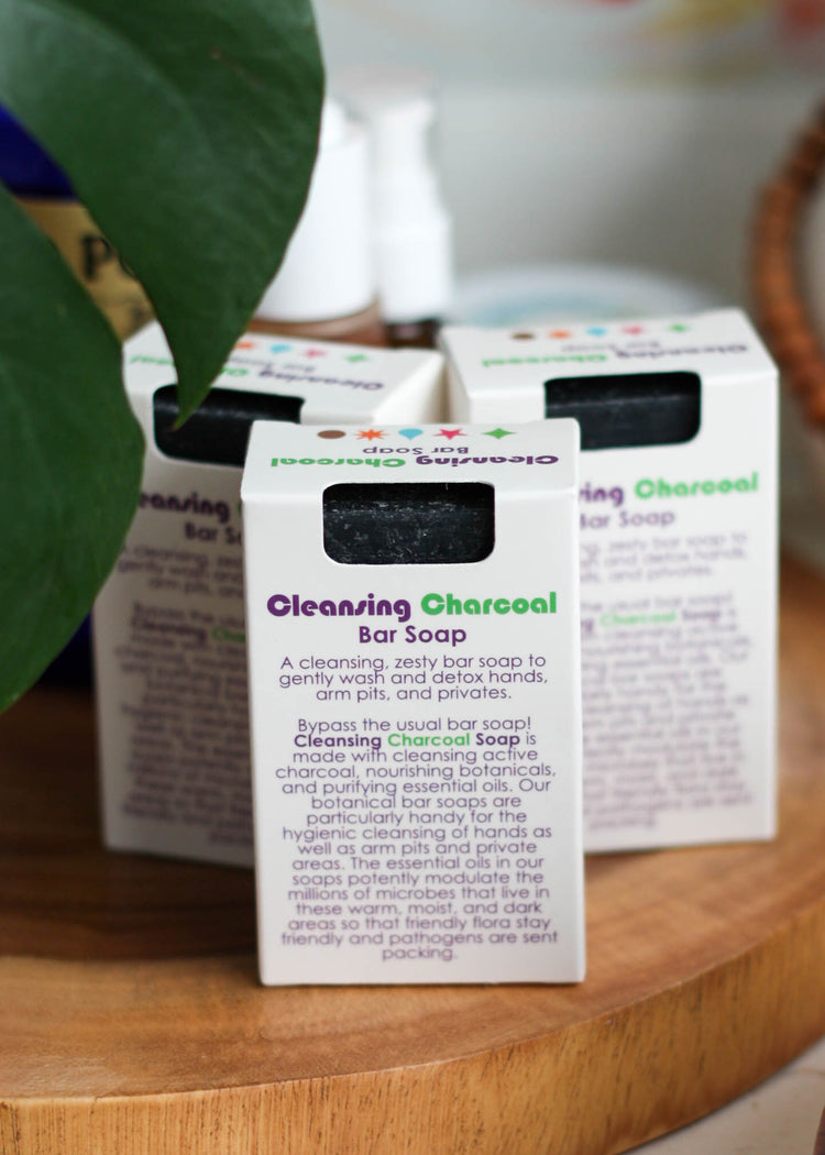 Living Libations Cleansing Charcoal Soap - Tyger-Tyger.ca