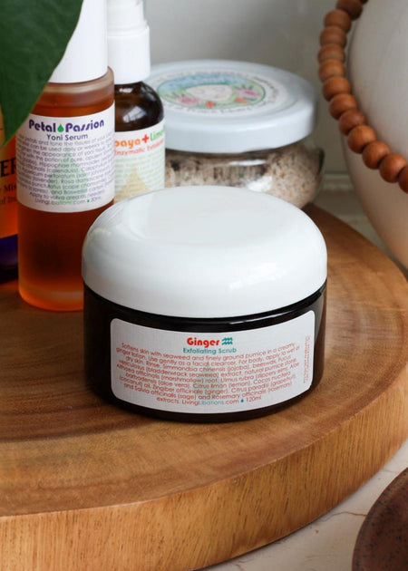 Living Libations Ginger Exfoliating Scrub - Tyger-Tyger.ca
