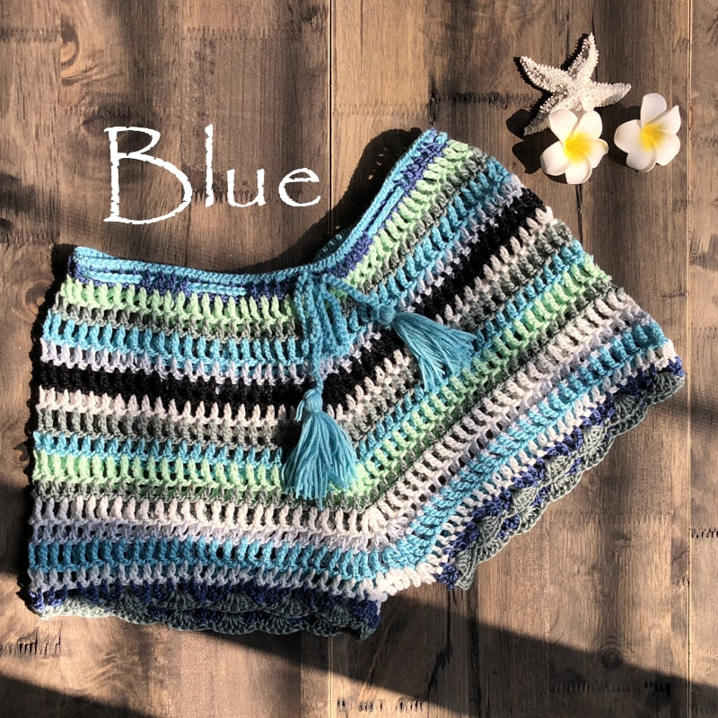 Spice Colorful Crochet Shorts