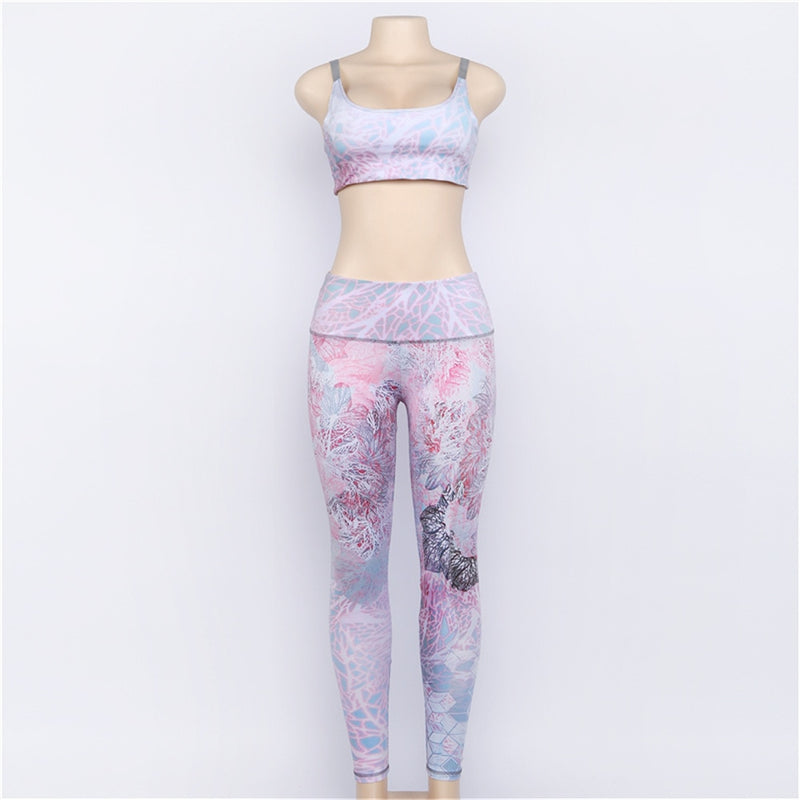 Autumn Fitness Set - Leggings + Top