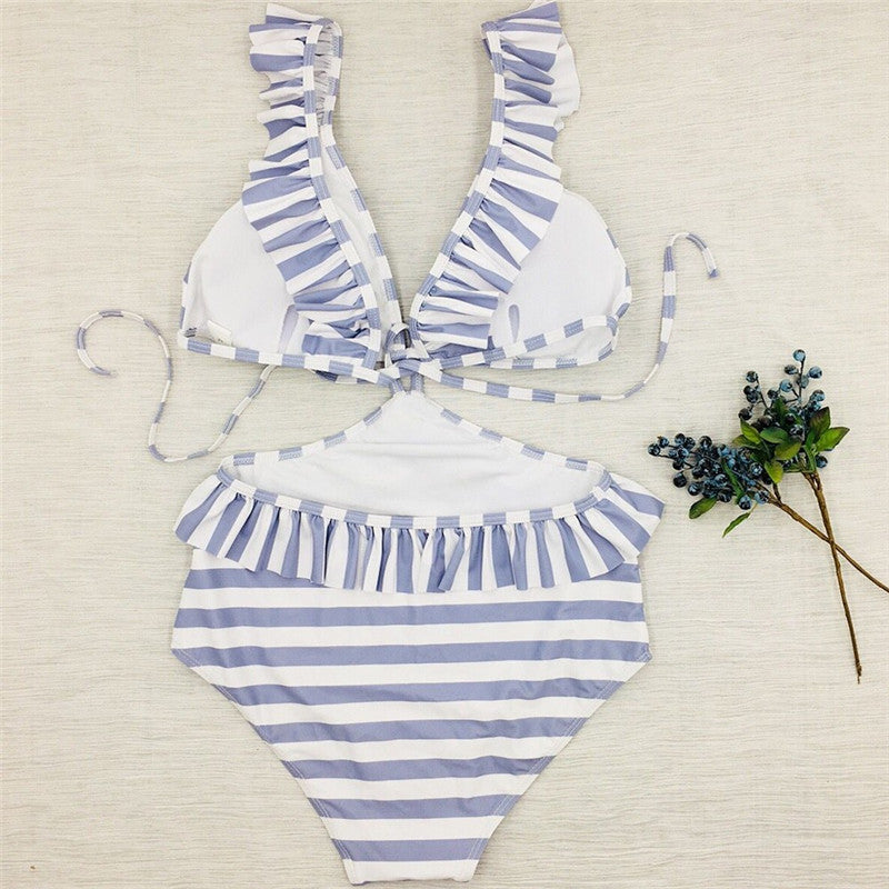 Mona Striped One Piece Swimsuit