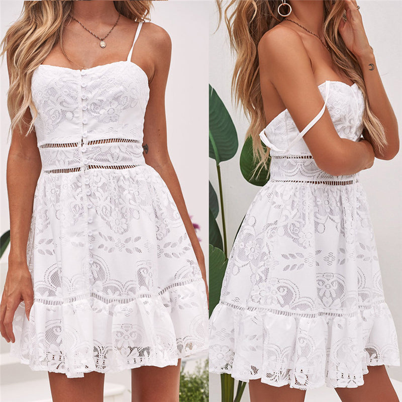 Aria Lace Short Dress
