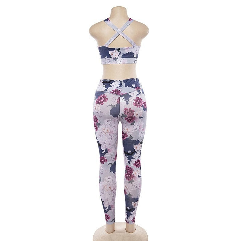 Blossom Fitness Set- Leggings + Top