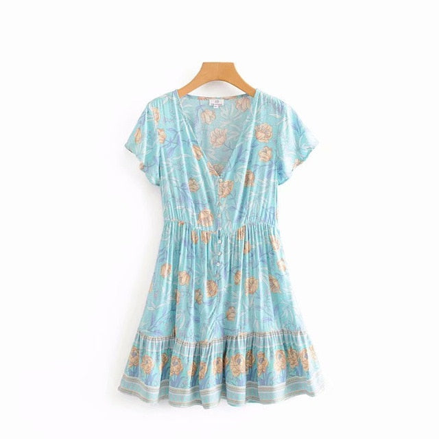 Anabelle Mini Dress - Blue
