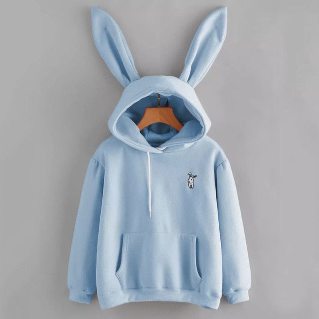 Rabbit Ear Long Sleeve Hoodie