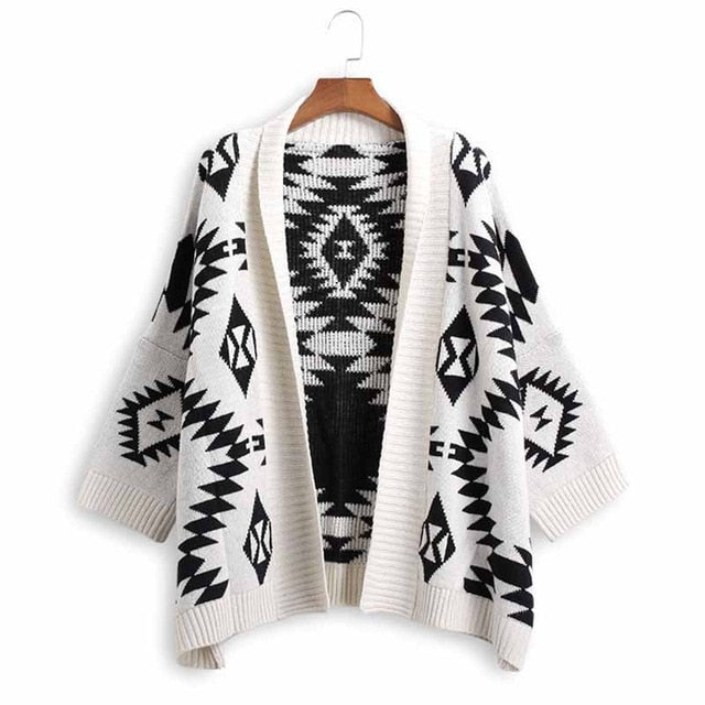 Rae Geometric Pattern Cardigan