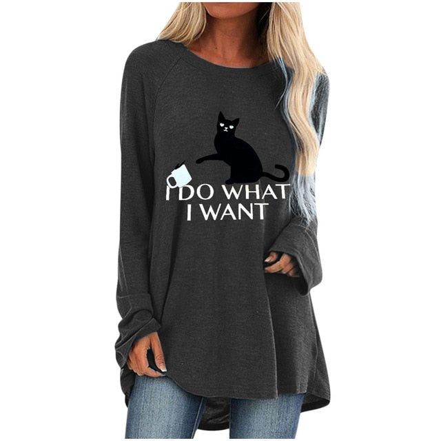 I Do Wh4t I W4nt Long Sleeve Oversize T-Shirt