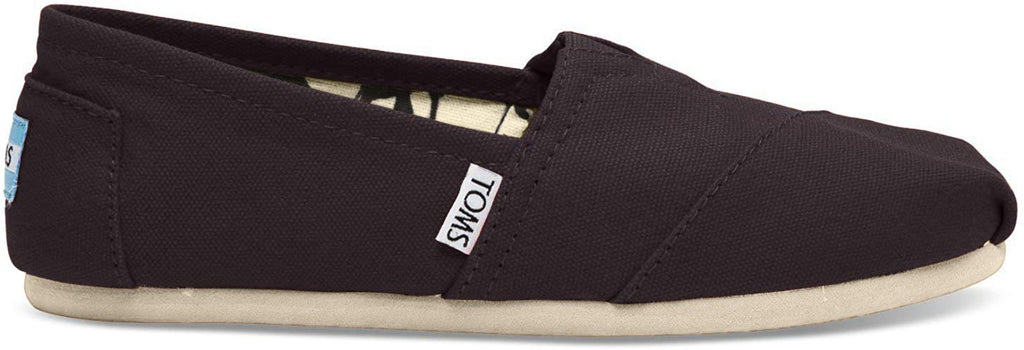 TOMS Mens Canvas Classics Slip-On - Black - 9.5