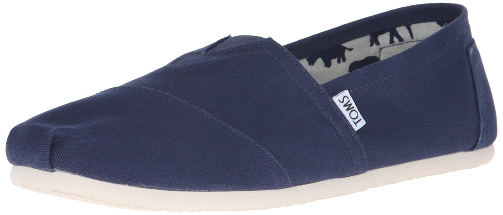 TOMS Mens Classic Canvas Slip-On - Navy - 8