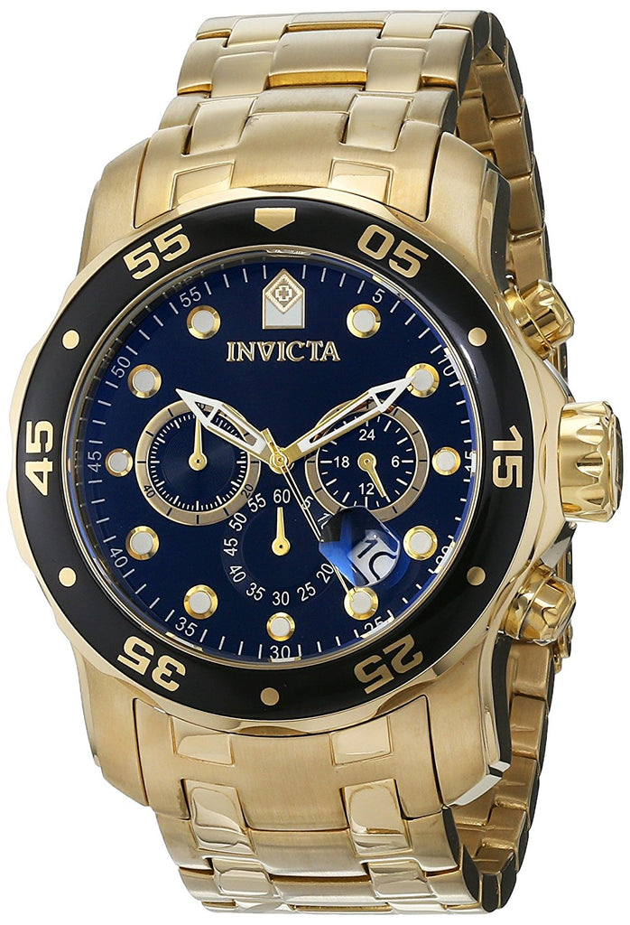 Invicta Pro Diver Gold-Tone Stainless Steel  Chronograph Mens Watch