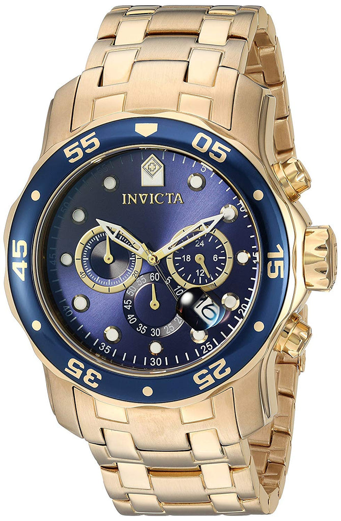 Invicta Pro Diver Rose Gold-Tone Stainless Steel  Chronograph Mens Watch