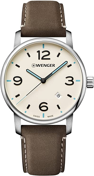 Wenger Urban Metropolitan Leather Mens Watch