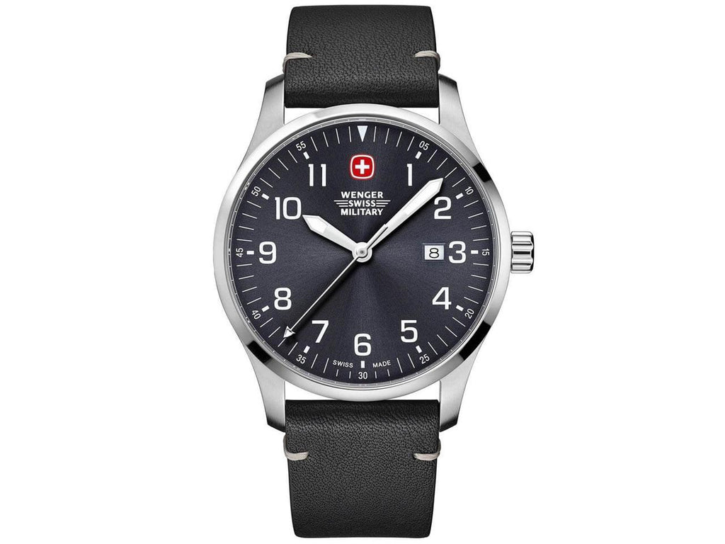 Wenger Swiss Military Terragraph Leather Mens Watch