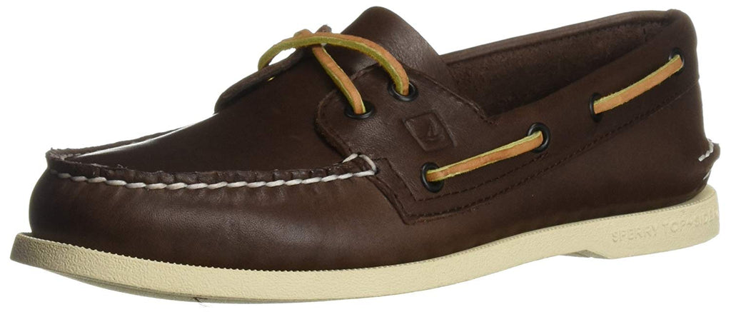 Sperry Mens Authentic Original Leather Boat Shoe - Classic Brown - Size 10