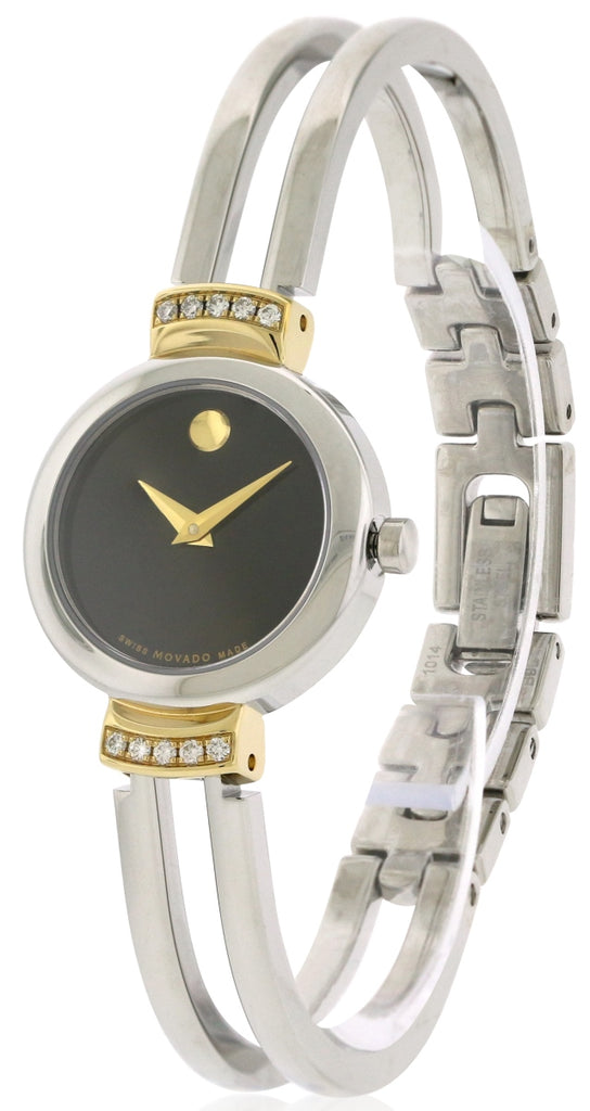 Movado Diamond Bezel   Stainless Steel Ladies   Watch