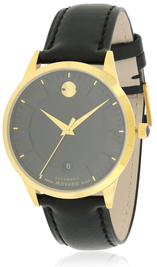 Movado 1881 Automatic Leather Mens Watch
