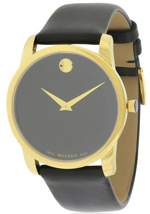 Movado Museum Mens Leather Watch