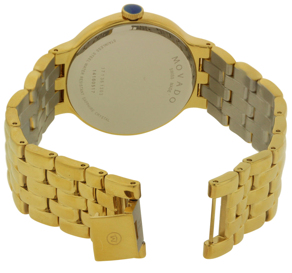 Movado Veturi Goldplated Stainless Steel Mens Watch