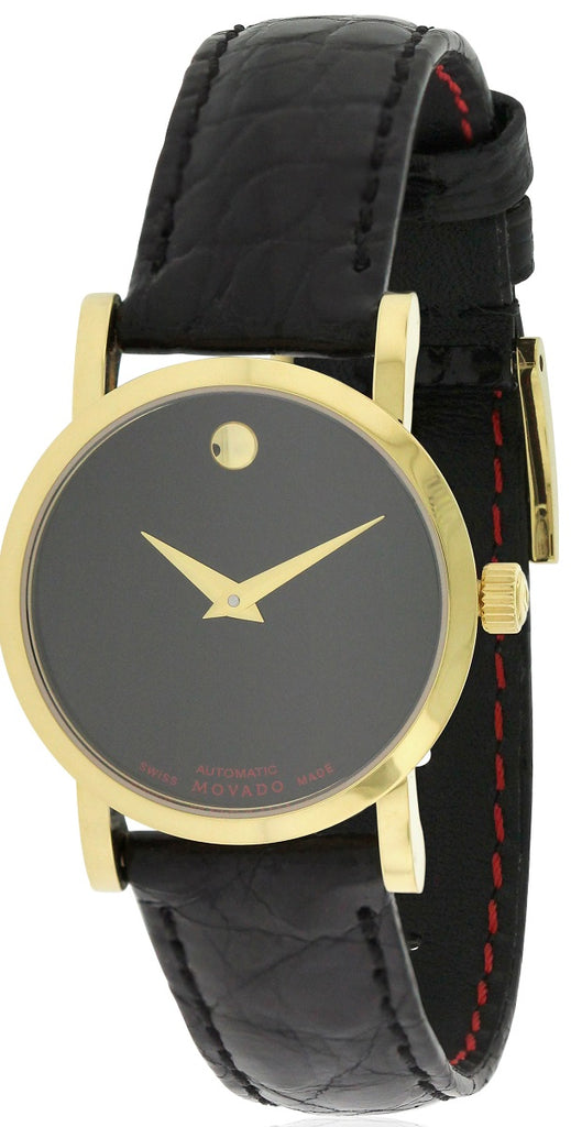 Movado Red Label Leather Automatic Ladies Watch
